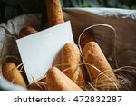 Basket Filled With Bread. Blan...
