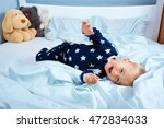 one year old baby in pyjamas... | Shutterstock . vector #472834033