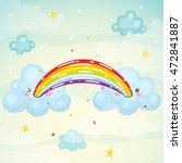 where does the rainbow  cute... | Shutterstock .eps vector #472841887