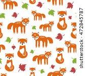 seamless autumn vector pattern... | Shutterstock .eps vector #472845787