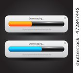downloading progress bar on... | Shutterstock .eps vector #472847443