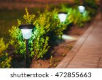decorative small solar garden... | Shutterstock . vector #472855663
