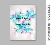 wedding invitation template... | Shutterstock .eps vector #472858153