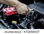 mechanic hand checking and...   Shutterstock . vector #472858537