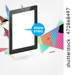 tablet pc icon. mobile... | Shutterstock .eps vector #472868497