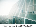 closeup of glass building roof... | Shutterstock . vector #472869403