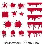 set of ketchup drops. vector...