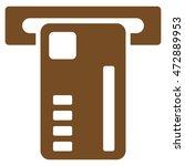 ticket machine icon. glyph... | Shutterstock . vector #472889953