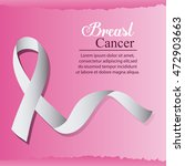 ribbon breast cancer awareness... | Shutterstock .eps vector #472903663