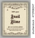 halloween apothecary label in... | Shutterstock . vector #472908247