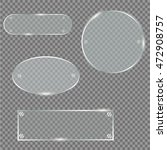 glass plates set. vector glass... | Shutterstock .eps vector #472908757