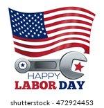 labor day design. poster design ... | Shutterstock .eps vector #472924453