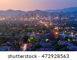 top view of downtown phoenix... | Shutterstock . vector #472928563