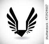 eagle abstract logo design.... | Shutterstock .eps vector #472929007