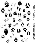 big set of animal footprints... | Shutterstock . vector #472932487