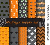 10 different halloween vector... | Shutterstock .eps vector #472934227