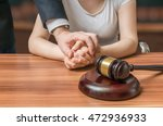 advocate or lawyer defends... | Shutterstock . vector #472936933