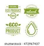 set of organic food labels and... | Shutterstock .eps vector #472967437