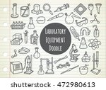 set of laboratory equipment in... | Shutterstock .eps vector #472980613