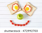Smiling Food Face. Breakfast...