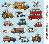 set of beautiful kids transport ...   Shutterstock .eps vector #472998727