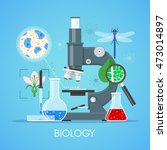 biology science education... | Shutterstock .eps vector #473014897