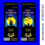 set of halloween ticket on... | Shutterstock .eps vector #473019163