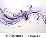 abstract curves vector... | Shutterstock .eps vector #47302153