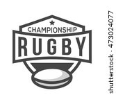 sport rugby logo. black and...   Shutterstock .eps vector #473024077
