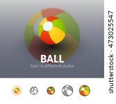 ball color icon  vector symbol...