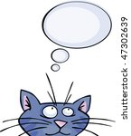 Stock vector funny cat with speech bubble 47302639