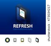 refresh color icon  vector...