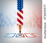 united states vote.american... | Shutterstock .eps vector #473055577