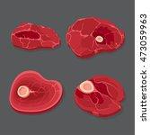meat set  vector illustration... | Shutterstock .eps vector #473059963