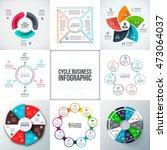 big set of vector arrows ... | Shutterstock .eps vector #473064037
