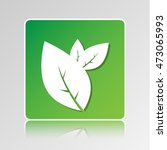 flat leaves icon. nature... | Shutterstock .eps vector #473065993