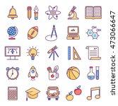 vector line style school and...   Shutterstock .eps vector #473066647