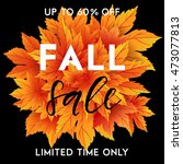 autumn sale flyer template with ...   Shutterstock .eps vector #473077813