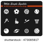 sport balls white simply... | Shutterstock .eps vector #473085817