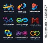 infinity logo set | Shutterstock .eps vector #473086597