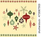 vector christmas background  | Shutterstock .eps vector #473087503