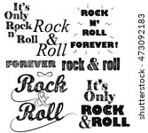 rock n roll handwritten... | Shutterstock .eps vector #473092183