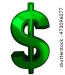 3d sign of dollar on white... | Shutterstock . vector #473096077