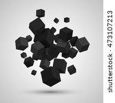 3d cubes. vector geometric... | Shutterstock .eps vector #473107213