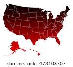 map of usa | Shutterstock .eps vector #473108707