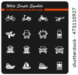 transport web icons for user... | Shutterstock .eps vector #473110927