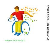 physically disabled rugby... | Shutterstock .eps vector #473115523