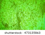 Green Metal Plate With Cracked...