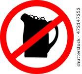 no beer sign. vector...   Shutterstock .eps vector #473147353