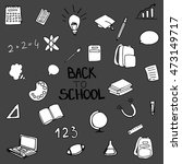 back to shoo.l icon set | Shutterstock .eps vector #473149717